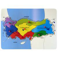 Bu-Bu Ahşap Puzzle Türkiye Haritası Bölgeler 30X21,5Cm BUBU-AP0049