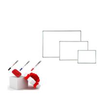 Neon Duvara Monte Beyaz Okul yazı Tahtası + 3 Adet Tahta Kalemi + 1 Adet Yazı Tahtası Silgisi 80x120
