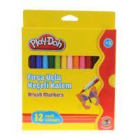 Play Doh 12 Renk Fırça Uçlu Keçeli Kalem