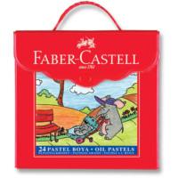 Faber Castell Plastik Çantalı Pastel Boya 24`Lü
