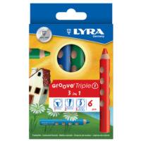 Lyra L3831060 (3 İn 1) Kuru Boya 6'Lı Groove Triple One