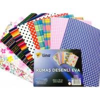 Lino Kumaş 10 Farklı Desenli (20X30) Rbe 207