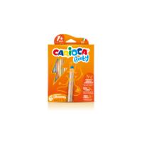 """Carioca """"3 in 1"""" Jumbo Bebek Ahşap Gövdeli Boya Kalemi 6'lı (Kalemtraş Hediyeli) (kuru boya, sulu boya ve pastel boya bir arada)"""