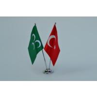 Bayrakal Osmanlı ve Türk Bayrağı Masa Bayrak Takımı