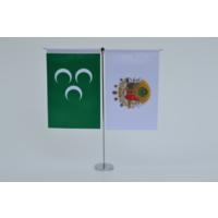 Bayrakal Osmanlı Bayrağı ve Tuğrası Dikey Masa Bayrak Takımı