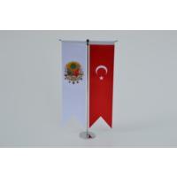 Bayrakal Osmanlı Tuğrası ve Türk Bayrağı Kırlangıç Masa Bayrak Takımı