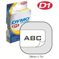 Dymo 24Mmx7 Mt Şerit Beyaz/Siyah (D-53713)