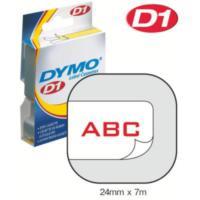 Dymo 24Mmx7 M Şerit Beyaz/Kırmızı (D-53715)