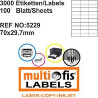 Multiofis 70X29,7 Mm Laser Etiket 5229