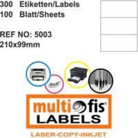 Multiofis 210X99 Mm Laser Etiket 5003