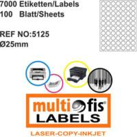 Multiofis 25 Mm Laser Etiket 5125