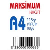 Maksimum A4 Kuşe Kağıt Gramajlı Parlak 115 Gr. 250 Adet