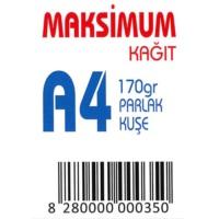 Maksimum A4 Kuşe Kağıt Gramajlı Parlak 170 Gr. 250 Adet