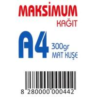 Maksimum A4 Kuşe Kağıt Gramajlı Mat 300 Gr. 250 Adet