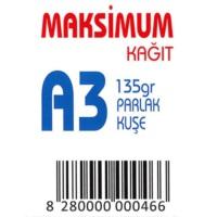 Maksimum A3 Kuşe Kağıt Gramajlı Parlak 135 Gr. 250 Adet