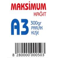 Maksimum A3 Kuşe Kağıt Gramajlı Parlak 300 Gr. 250 Adet