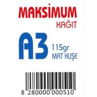 Maksimum A3 Kuşe Kağıt Gramajlı Mat 115 Gr. 250 Adet