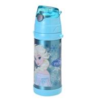 Frozen Karlar Ülkesi Seri -1 Kapaklı Çelik Matara - Suluk Elsa Mavi 78422