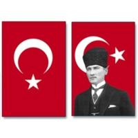 Atatürk Posteri ve Türk Bayrağı Bir Arada 100x150 cm