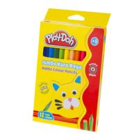 Play-Doh 12 Renk Jumbo Kuru Boya