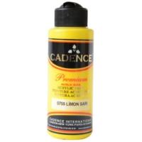 Cadence Premium Akrilik Boya 120ml 0755 Limon Sarısı