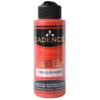Cadence Premium Akrilik Boya 120ml 7550 Çilek Kırmızı