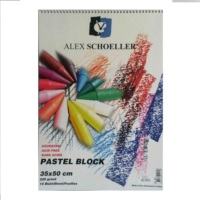Alex Schoeller Renkli Siprelli Pastel Blok 220 gr. 35X50 cm 15 Yaprak