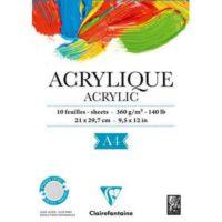 Clairefontaine Acrylique Akrilik ve Suluboya Blok 10 Yaprak 360 gr. A4