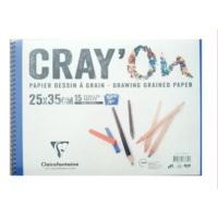 Clairefontaine Cray On Resim Defteri Üstten Siprelli 160 gr. A3 30 Yaprak