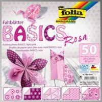 Folia Origami Kağıdı 5 Desen 50 Adet Kağıt Pembe 20 X 20 cm