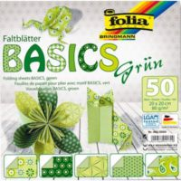 Folia Origami Kağıdı 5 Desen 50 Adet Kağıt Yeşil 20 X 20 cm