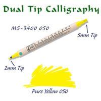 Zig Calligraphy Pen Çift Uçlu Kaligrafi Kalemi 2 mm - 5 mm Pure Yellow