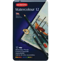 Derwent Watercolour 6,9 mm Sulandırılabilir Kuru Boya 12'li (32881)