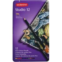 Derwent Studio 6,9 mm Hassas Mükemmel Kuru Boya Seti 12'li (32196)