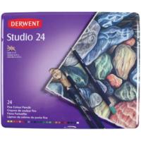 Derwent Studio Pencils Kuruboya Kalemi Teneke Kutu 24 Renk