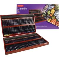 Derwent Studio Pencils Kuruboya Kalemi Seti 72'Li Ahşap Kutu