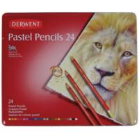 Derwent Pastel Pencil 24'Lü Teneke Kutu Pastel Kalem Seti