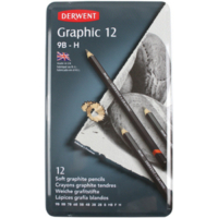 Derwent Graphic Dereceli Kalem Seti Soft Sketching Teneke Kutu 12 Renk