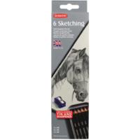 Derwent Sketching Pencils Çizim Kalemi Teneke Kutu 6'Lı