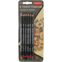 Derwent Tınted Charcoal Pencil 6'Lı Blister Dw2301689