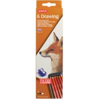 Derwent Drawing Pencils Renkli Çizim Kalem Seti 6'Lı Teneke Kutu