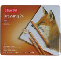 Derwent Drawing Pencils Renkli Çizim Kalem Seti 24 Renk Teneke Kutu