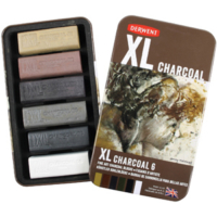 Derwent Xl Charcoal 6'Lı Teneke Kutu Dw2302009