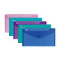 Snopake Polyfile Dl Çıtçıtlı Dosya(225X125mm)Karışık Renk Sp10035