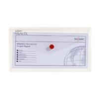 Snopake Polyfile Dl Çıtçıtlı Dosya(225X125mm)Şeffaf Sp10057