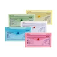 Snopake Polyfile Dl Çıtçıtlı Dosya(225X125mm)Klasik Renkler Sp10070
