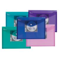 Snopake Polyfile A4 Cd Gözlü Çıtçıtlı Dosya(330X240mm)Karışık Renkler Sp11800