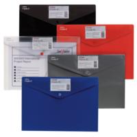 Snopake Polyfile Id A4 Çıtçıtlı Dosya Tamamı Renkl Karvizitli(330X240mm)Karışık Renkler Sp12563