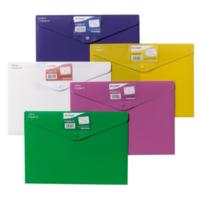 Snopake Polyfile Id A4 Çıtçıtlı Dosya Tamamı Renkli(330X240mm)Parlak Karışık Renkler Sp12565
