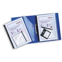 Snopake Polyfile Rıngbınder Klasörlenebilir Çıtçıtlı A4 Dosya(Şeffaf) Sp12566